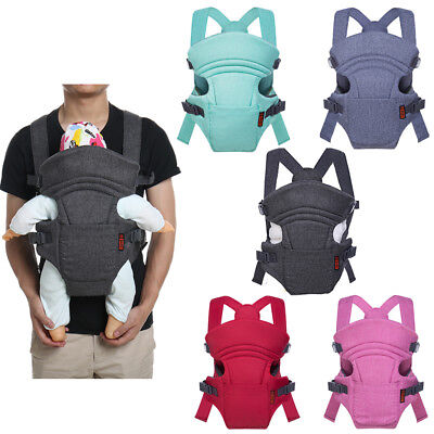 Baby Infant Carrier Backpack Strap Holder Adjustable Head Simple Easy to Use New
