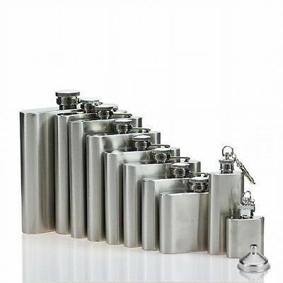 Portable Stainless Steel Hip Flask Wine Whiskey  Liquor Alcohol Bottle Pocket