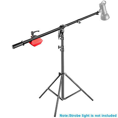 """Neewer Pro Lamp Boom Stand Max Height 71"""" with Holding Arm and Counter Weight"""