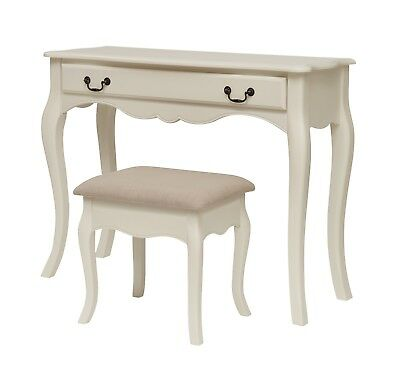 Bordeaux White Painted Dressing Table & Stool / French Style Vanity Desk