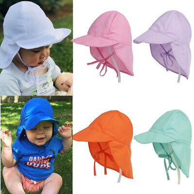 Kids Boys Girls Sun Safe LEGIONNAIRE HAT UV Protective Summer Cap with Neck Flap