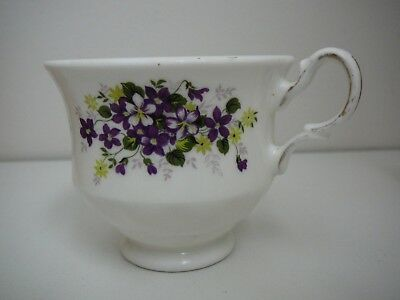 Queen Anne Violets Cup Only Pattern 8625 Made in England