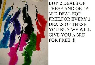 12 Brand New Colorful Feather Clips,roach Clips ,pow Wow Supply Free Shipping !!