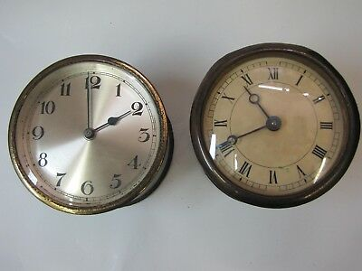 2 x Edwardian Insert Drum Clock Movements