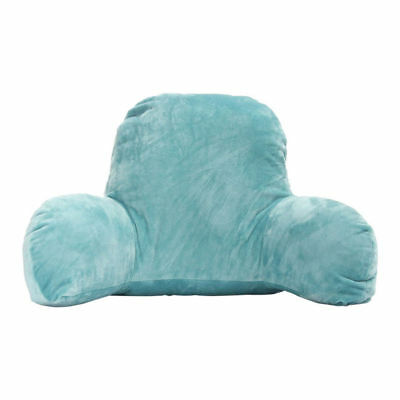 Blue Lounger Bed Reading Rest Back Pillow Support Arm TV Backrest Seat Cush E8L9