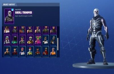 fortnite account with rare skins skull trooper reaper axe black knight etc - reaper fortnite account