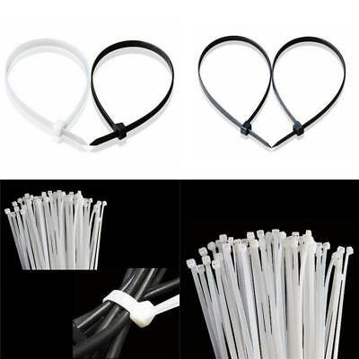 "AU LOTS 100pcs 6.6"" Winged Nylon Plastic Cable Zip Ties Cord Wrap Wire Strap SH"