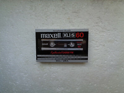 Vintage Audio Cassette MAXELL XLI-S Epitaxial 60 * Rare From Japan 1980-82 *