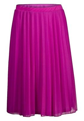 d9fbdd7cd0 Ladies Ex UK High Street (DP) Fuchsia Pink Pleated Midi Skirt Sizes 6-