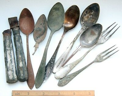 Mix Of Antique Cutlery Tableware Metal Detecting Find (FBR)