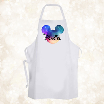 Personalised Mickey Mouse Disney Galaxy Apron Baking Cooking Birthday Gift DE2