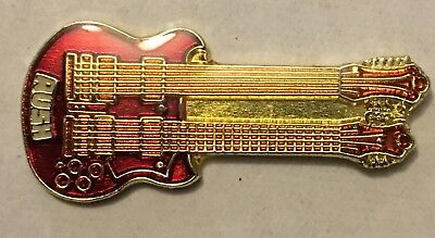 Double-neck Electric Guitar Lapel tie pin badge hat Rock Blues Country Music