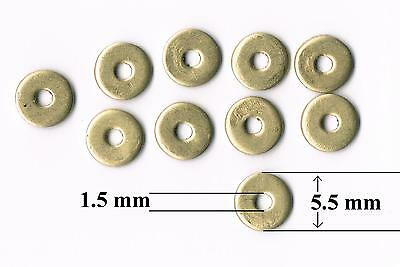 """Large Diameter Brass Washers M1.5, 12BA - 1.5 mm, 1/16"""",  0.060"""" ID  (10 pack)"""