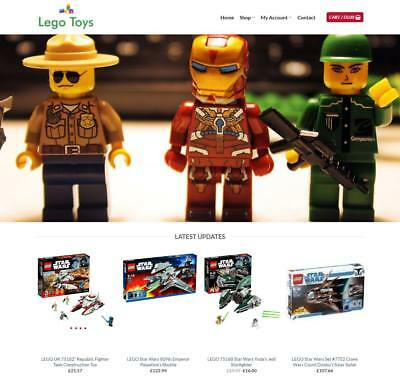 Lego Toys Website For Sale - Earn £630.00 A SALE. Free Domain| Web Hosting