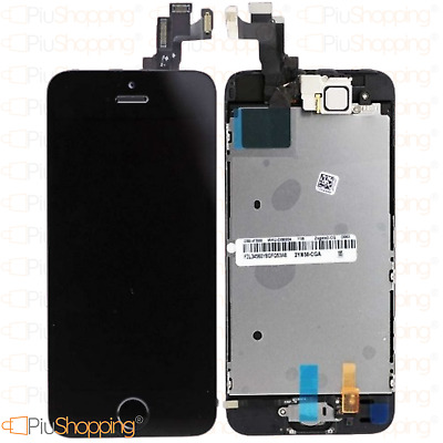 Display Iphone 5S Assemblato Completo Fotocamera Tasto Home Altoparlante Nero