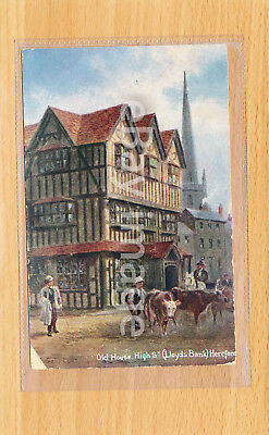 Postcard - Old House, High Street (Lloyds Bank), Hereford - posted 1907