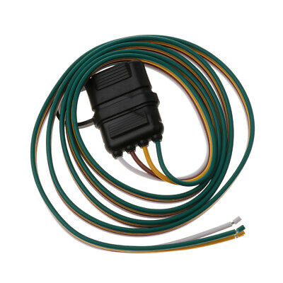 High Quality 152cm 4 Pin RV Trailer Wiring Plug Adapter Flat Wire Connector