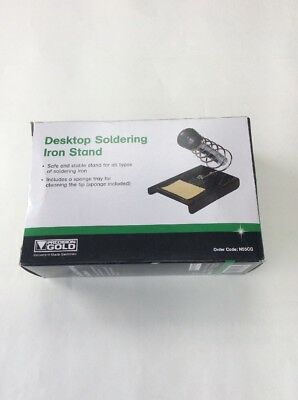 SOLDERING IRON STAND With METAL BASE 125 X 85MM WITH CLEANING SPONGE