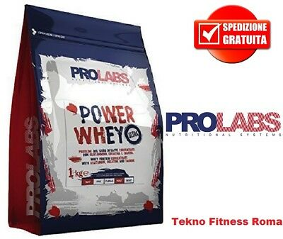 PROLABS Power Whey 1kg Proteine Siero del Latte concentrate + Vit  B6 + Creatina