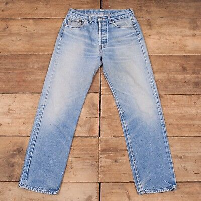 "Womens Vintage Levis Red Tab 501 1980s Denim Jeans French Made 30"" x 30"" R8956"