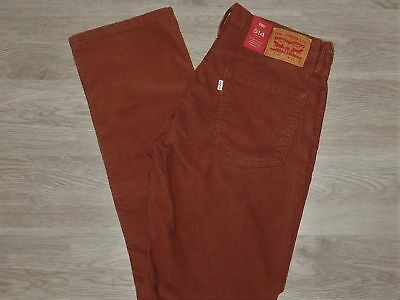 3ff582c8 Levis Jeans 514 Corduroy Jeans Stretch Straight Below Waist Rich Brown NWT  32x34