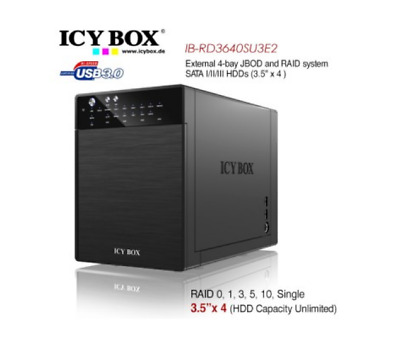 External 4-Bay JBOD System for 3.5 Inch SATA HDDs ICY BOX IB-RD3640SU3E2