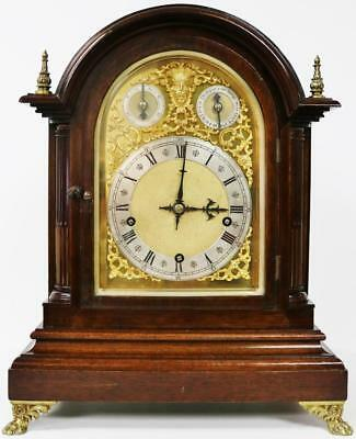 Antique 8 day W & H Mahogany 3 Train Double Chime Musical 9 Gong Bracket Clock