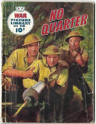 """Dated 1959. Vintage WAR PICTURE LIBRARY Comic #15. """"No Quarter"""""""