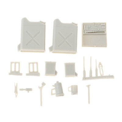 1/35 Resin Soldier Scenario Accessories Kit Resin Tank Drums Decorations Set