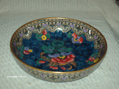 beautiful losol ware hand decorated bowl magnolia  24 cm wide 7 cm high 1920s