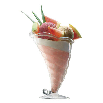 6 Ice Glass Ice Cream Cups made of Glass Transparent Different styles