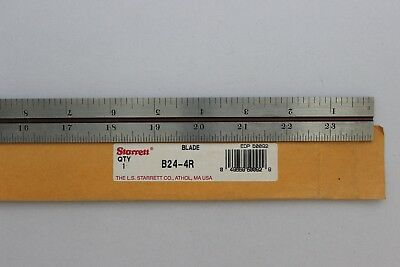 "Starrett B24-4R Combination Square Blade w/ Inch Graduations, 24"" Size, NEW"
