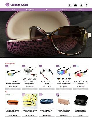 Established Glasses Store Profitable Website Business For Sale - Dropshiping