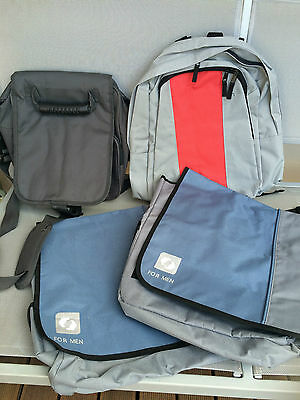 3 x MENS BAGS -2  FOR MEN MESSENGER SHOULDER BAG, 1 BACKPACK