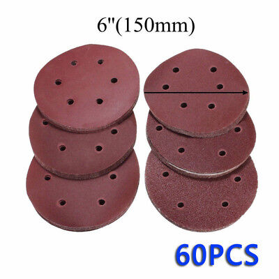 60x 6inch/150mm 60/80/120/180/240/320 Grit Sanding Disc Self Adhesive Sandpaper
