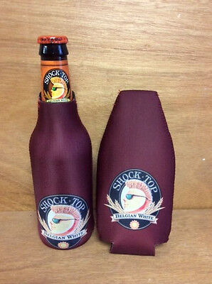 Shock Top Belgian White Beer Bottle Koozie Cooler Coozie Set of 2 -New Free Ship