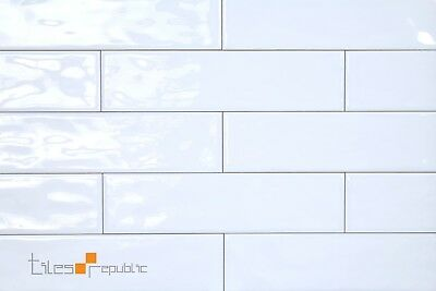 Mano White Gloss Handmade-Look 75x300 Subway Wall Tile