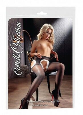 Cottelli Collection Stockings & Hosiery Strumpfhose offen Lingerie schwarz M