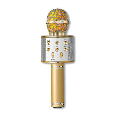 Handheld Bluetooth Wireless Karaoke Microphone Phone Player MIC Speaker Rec P8L2
