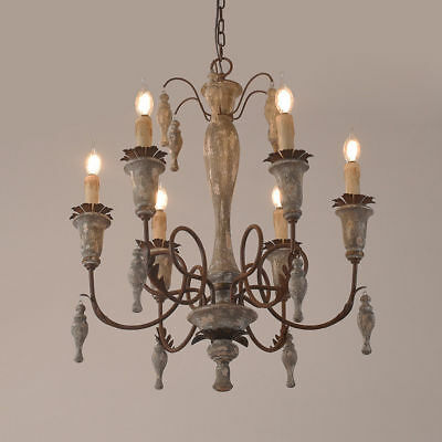 Rustic Metal Arm 6/8/12 Candle Lights Chandelier Rust Country Pendant Lighting