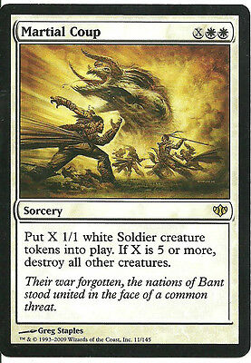 1 PLAYED Martial Coup White Conflux Mtg Magic Rare 1x x1