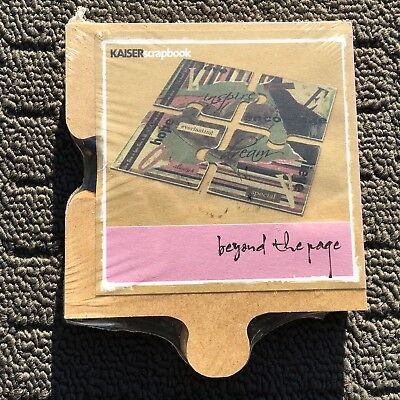 """KAISER """"Beyond The Page"""" Set of 4 Jigsaw Puzzle Shaped DIY Wooden Coasters *NEW*"""