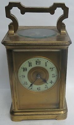 Nice Antique 8-Day Chiming Carriage Clock  A/f