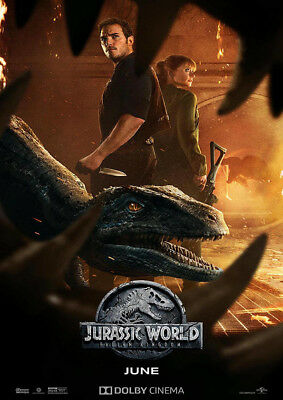 Brand New Movie Poster Print: Jurassic World Fallen Kingdom   A3 / A4