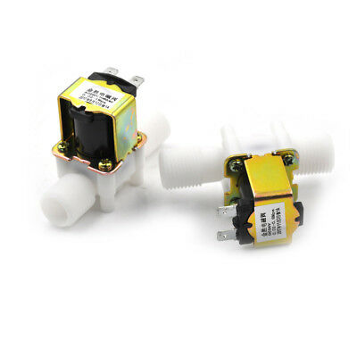 """1/2"""" Plastic Electric Solenoid Valve Magnetic Water Air 220V Normally ClosedA6W"""
