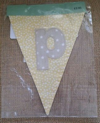 BRAND NEW SEALED IN PACKET Mamas and Papas Bunting Letter P others available
