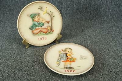 Vintage Lot Of 2 Goebel Hummel Collector Plates 7 1/2""