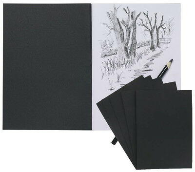 Acid Free Art Black Pad Tiger Quality A6 Hardback Casebound Artists Sketch Book