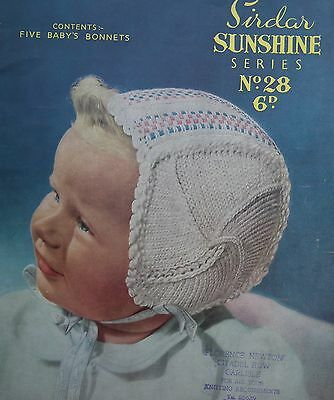 Sirdar Sunshine Series No 28 Original 1950s Vintage Knitting