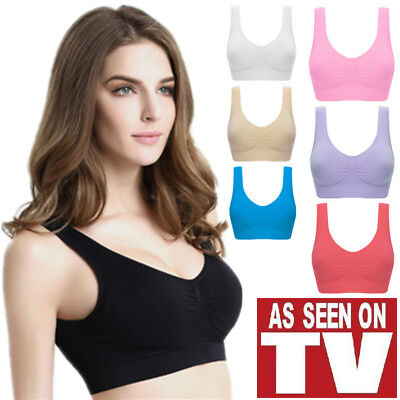 9c24925bbe3eb Women s Seamless Sports Gym Bra Soft Cup Vest Breathable Leisure Bras  Shapewear